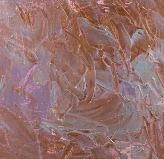 Pintura acrílica original feita à mão prata ouro pinceladas terrosas textura de fundo abstrato