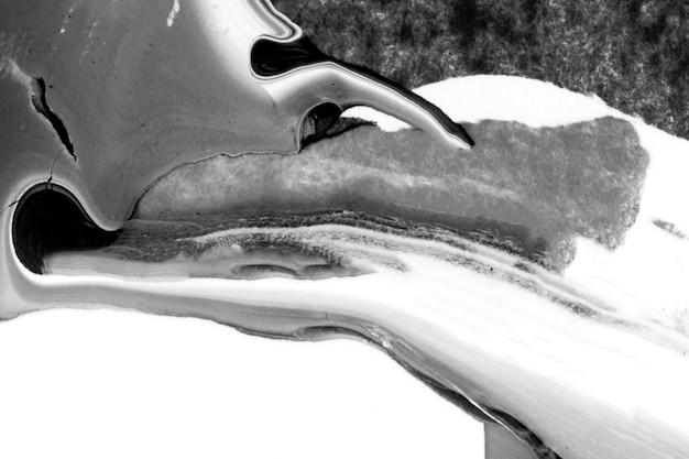 Pintura acrílica preto e branco