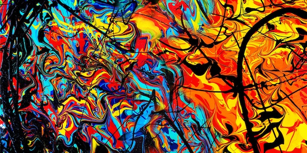 Pintura artística em tela de fundo abstrato com textura