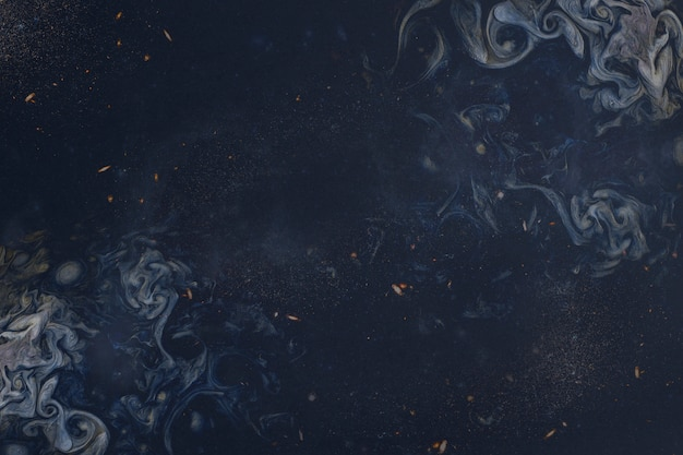 Pintura azul abstrata