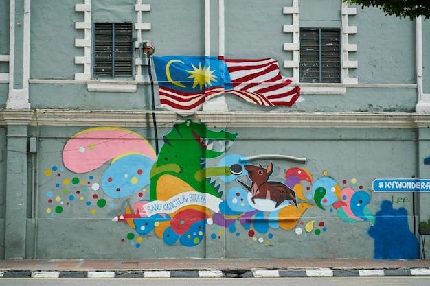 Pintura colorida em uma parede