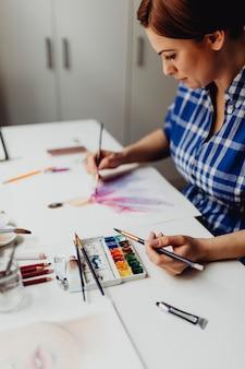 Pintura com aquarelas