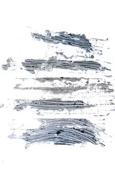 Pintura com textura creme em fundo transparente, arte abstrata