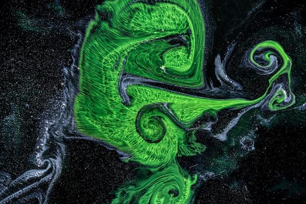 Pintura de abstração em técnica fluida.