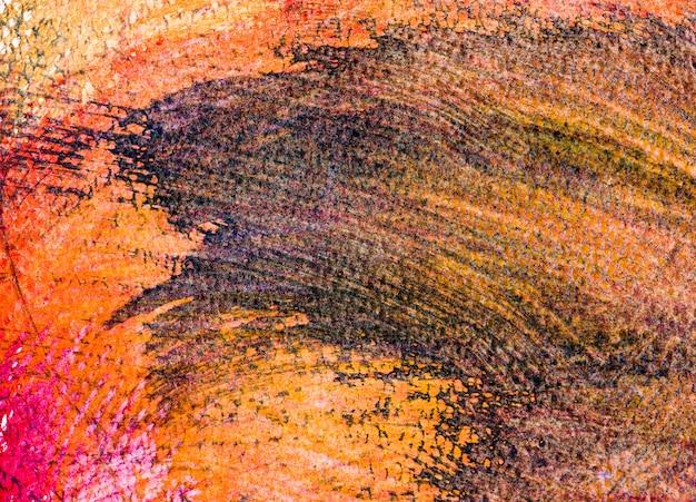 Pintura de arte colorida sobre fundo de papel