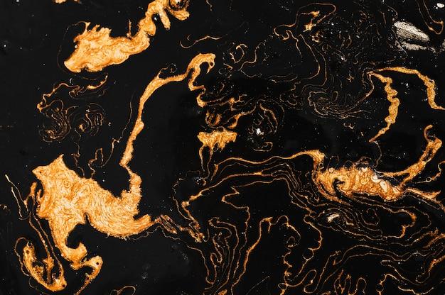 Pintura de arte fluida e abstrata luxuosa em tinta a álcool imitação de pedra de mármore
