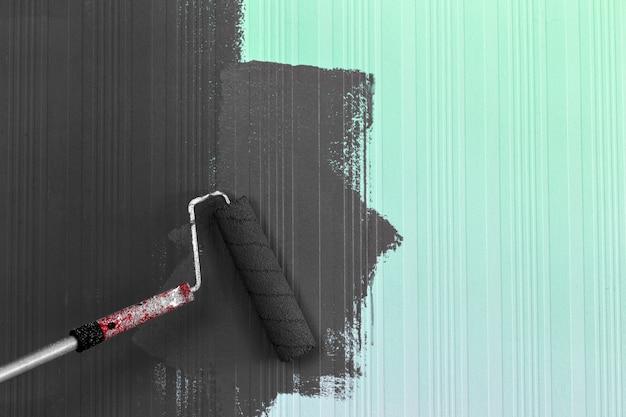 Pintura de escova de rolo