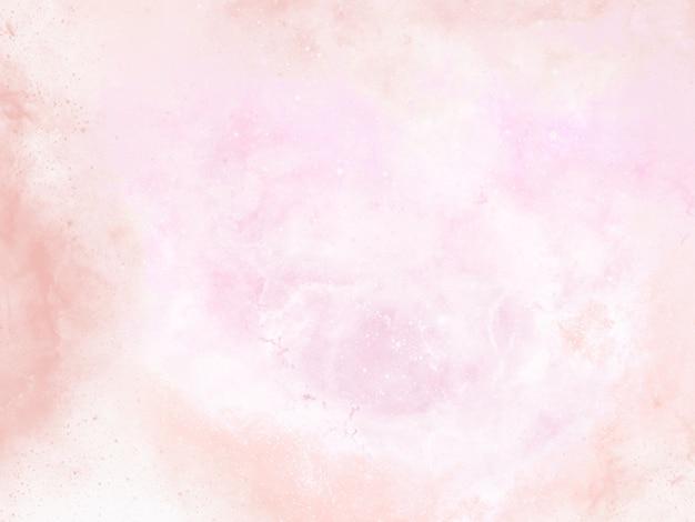 Pintura de fundo aquarela rosa com franjas abstratas e pingos e gotas de tinta Foto Premium