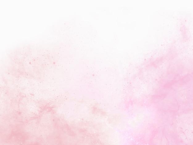 Pintura de fundo aquarela rosa com franjas abstratas e pingos e gotas de tinta