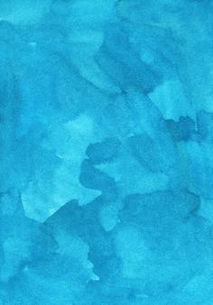 Pintura de fundo azul ciano claro em aquarela. cenário artístico aquarelle turquesa.
