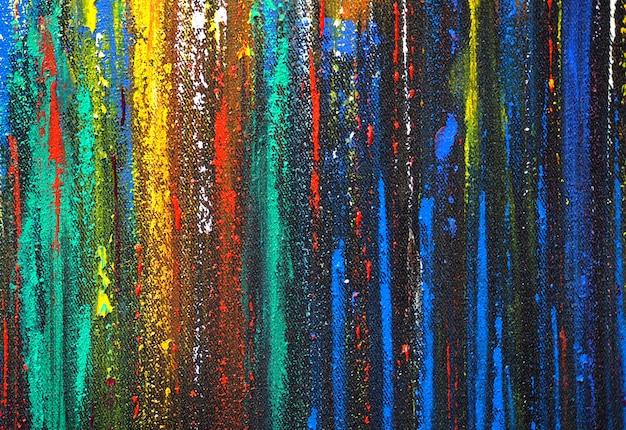 Pintura de linhas coloridas brilhantes abstrato