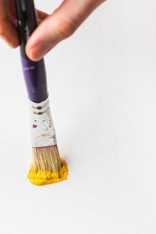 Pintura de mão de colheita com pincel