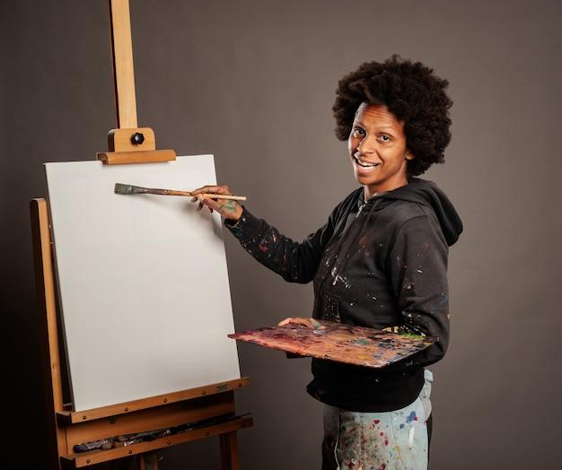 Pintura de mulher negra