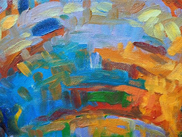 Pintura de óleo abstrata colorida do fundo das cores doces.