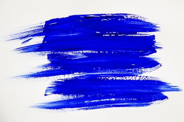 Pintura de textura no fundo branco. foco seletivo.