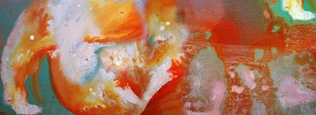 Pintura desenhada à mão arte abstrata panorama fundo cores textura desenho ilustração