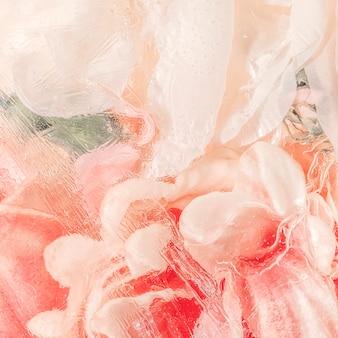 Pintura em aquarela abstrata com flor rosa