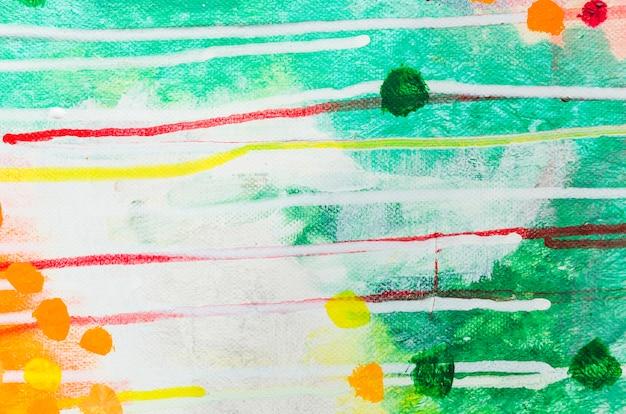 Pintura em aquarela abstrata de vista superior
