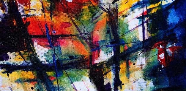 Pintura em aquarela abstrata em papel com textura.