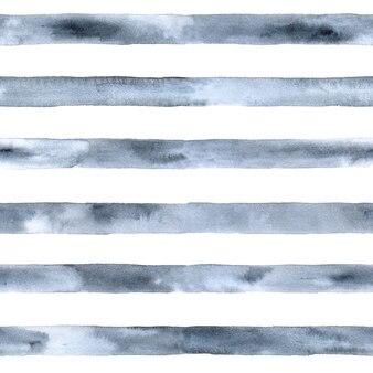 Pintura em aquarela cinza prata com listras azuis