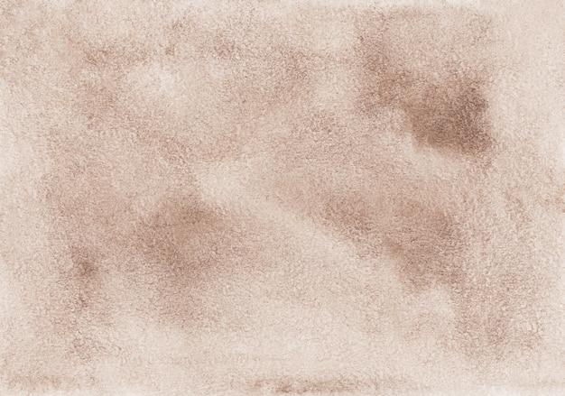 Pintura em aquarela fundo marrom claro. sobreposição de cores taupe. fundo velho do pergaminho pintado à mão.