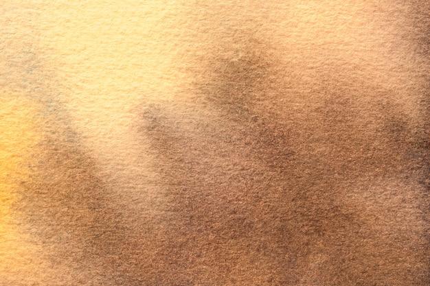 Pintura em aquarela sobre tela com gradiente dourado