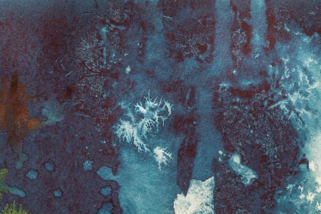 Pintura em aquarela sobre tela com manchas e gradiente