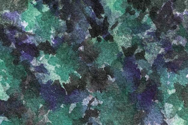 Pintura em aquarela sobre tela com manchas pretas e gradiente