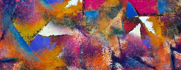 Pintura em tela, óleo original da arte abstracta e cor acrílica.