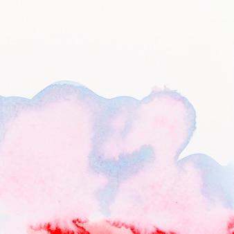 Pintura fluindo no pano de fundo branco