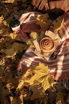 Piquenique de outono plana leigos
