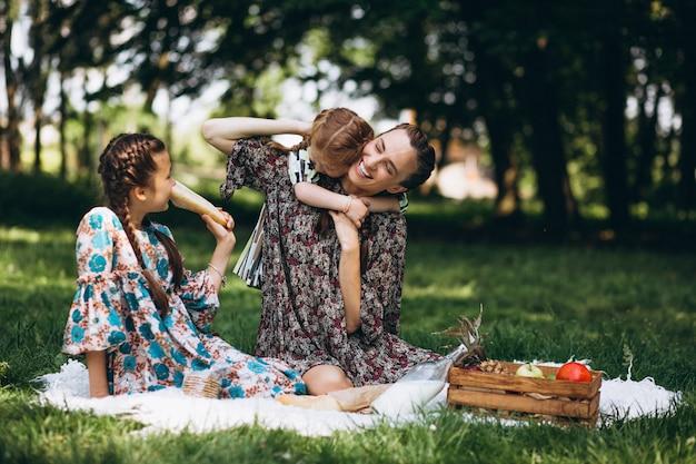 Piquenique em família no parque