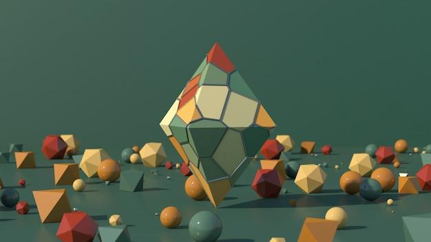 Pirâmide com superfície colorida