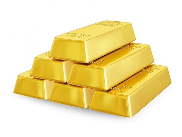 Pirâmide de barras de ouro
