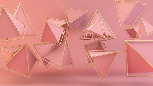 Pirâmides cor de rosa