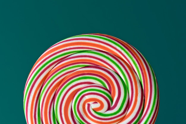 Pirulito colorido com espiral