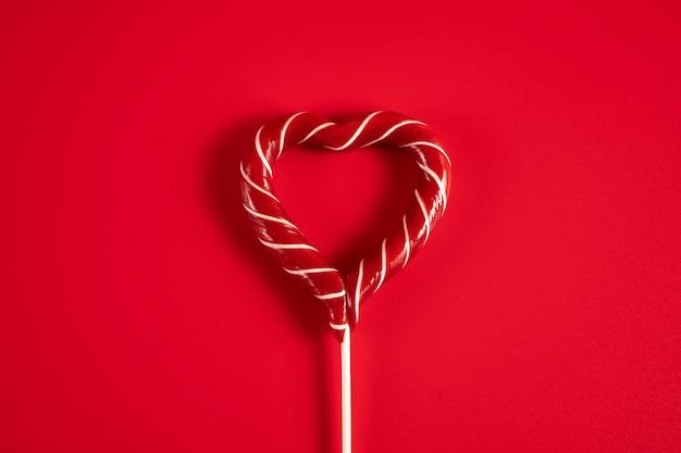 Pirulito em forma de coração