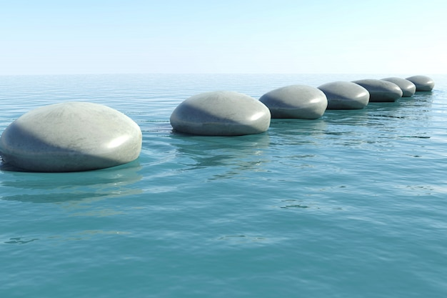 Piscina de pedra zen