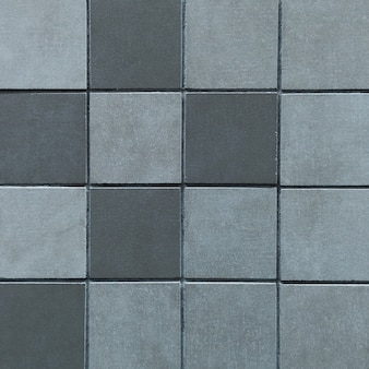 Piso de cerâmica cinza e azulejos