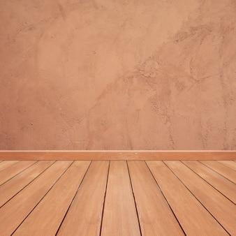 Piso de madeira com fundo de mármore marrom
