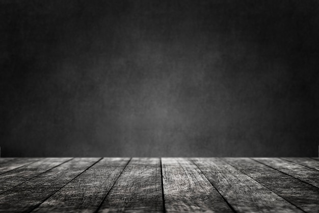 Piso de madeira com fundo de produto de parede preta