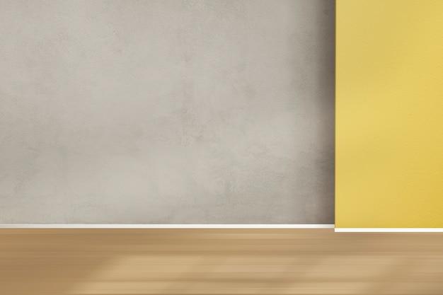 Piso de madeira vazio retro quarto design de interiores