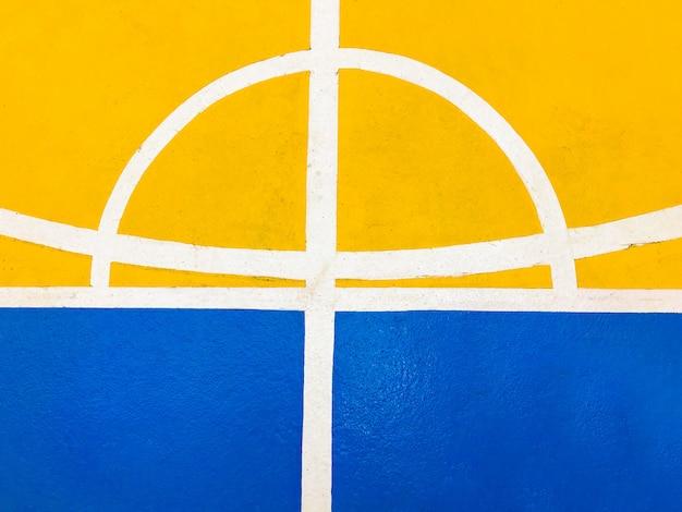 Piso de quadra de basquete colorido