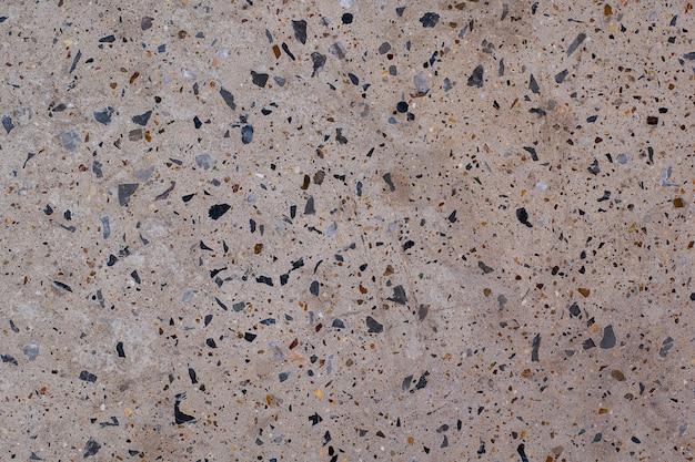 Pisos de concreto de decoração de piso de pedra de concreto com pequena rocha polida