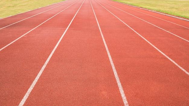 Pista de atletismo de campo de esportes