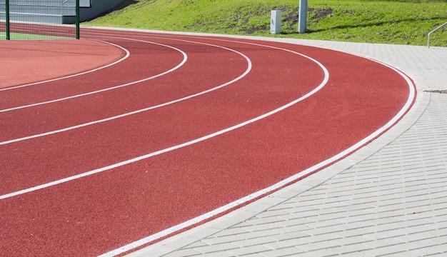 Pista de atletismo para cenário dos atletas