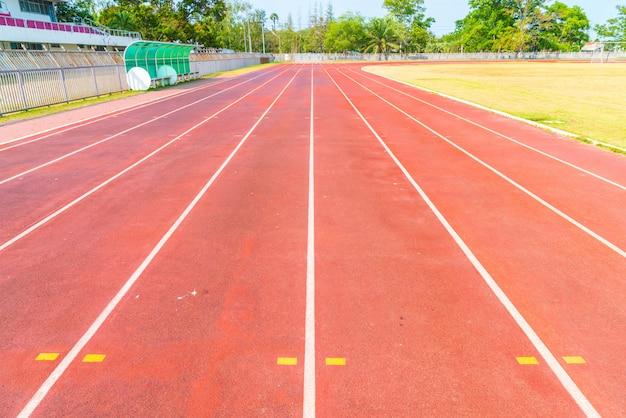 Pista de corrida do estádio de atletismo