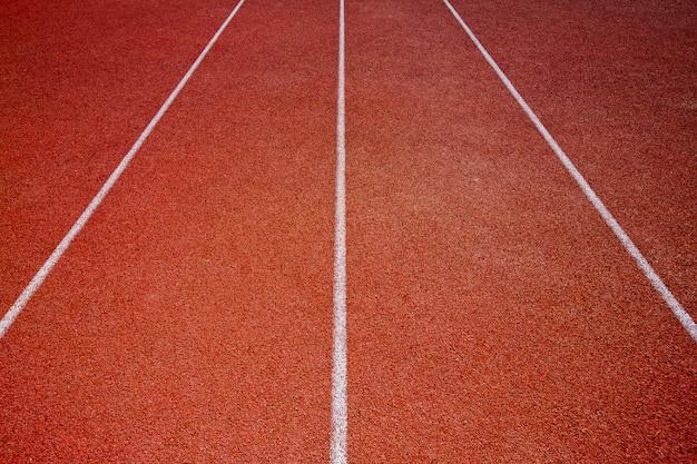 Pista de corrida para o fundo de atletas