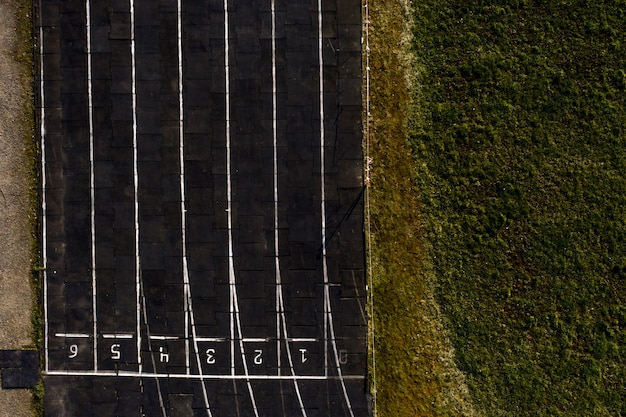 Pista de corrida textura com números de pista, pista de corrida de fundo