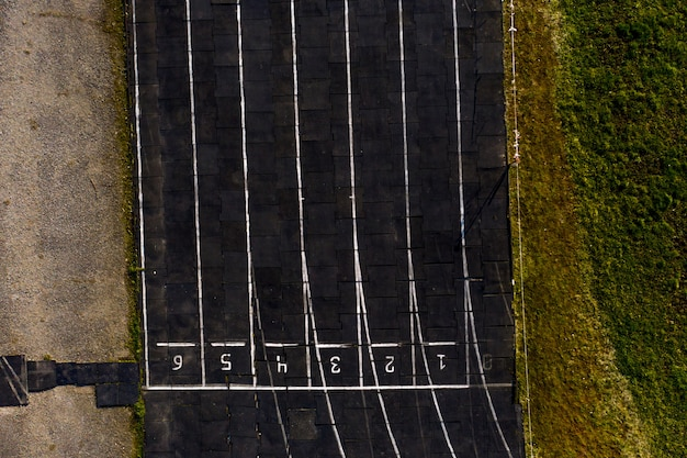 Pista de corrida textura com números de pista, pista de corrida.